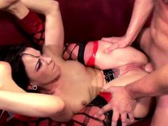 horny wife dana dearmond in latex fetish with husband