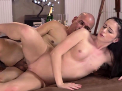 OLD4K. Caring daddy pounds tight juicy pussy of young