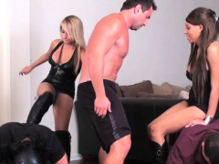 Glamour Sweetheart Punishes Slave By Kicking Hard In Balls