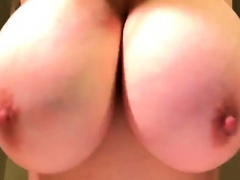 Impressive Giant Tits Teen Posing On Webcam