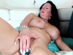 brunette-mom-playing-with-herself