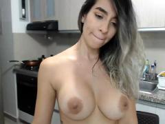 Hip Busty Girlfriend Sara Strips Masturbate