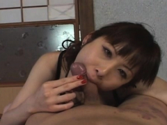 Filthy exotic sweetie Tomoka Matsunami gets a good tool ride