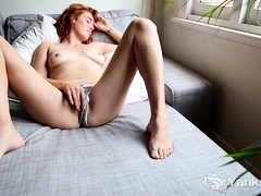 Molly Broad Loves Playing With Herself. Her Hands Slide All