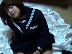 Uniformed japanese teen