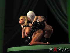 3d sexy active shemale nails horny girlfriend on model podium – xtinder.net