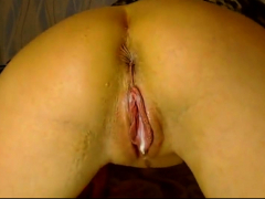 anal fisting and insertion for gaping blonde glasses slut