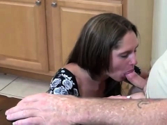 dad penetrated daughter in kitchen and cum inside her by mistake