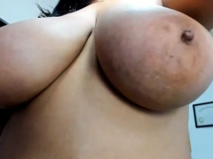 Latina with big tits on webcam