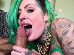 Pussy Toying Inked Up Milf With Big Tits