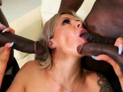 Horny Cougar Nina Elle Wants Gangbang With Black Mover Guys