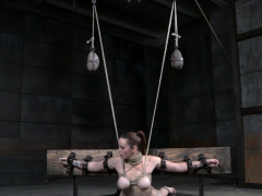 Submissive redhead gets humiliated by her dom