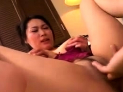 Fujiko Sakura busty gets cum on mouth after is licked on