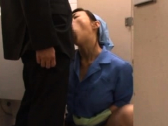 Japanese office chick relaxes while getting slit teased