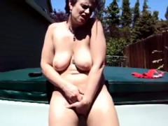 Mature Bbw Masturbation Outdoor