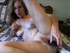 Sexy Milf Teases Her Pussy And Tits While Playing On Cam
