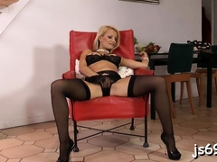 Astonishing blonde maid Valentina Valenti fucking