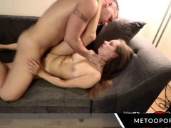 Horny Girl Takes Two Cocks And A Big Cumshot