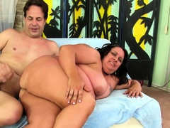 BBW Lacy Bangs Lets Him Use Every Hole