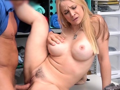 Blonde MILF Caught Shoplifting Gets Fucked by Mall Cop