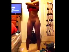 Black Gf Stripping For Boyfriend