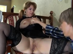 Old busty mature mom and young guy homemade anal