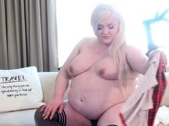 BBW Trans Schoolgirl Stripping!