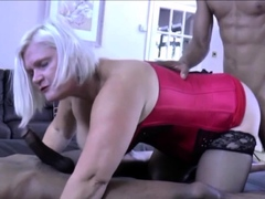 granny in interracial threeway