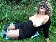 Public cum dump Jessica fucked by lots of strangers