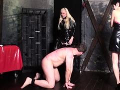 bizarrlady Jessica and lea dominate joschi in dungeon