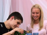 Succulent barely legal gal Ania fingered and licked