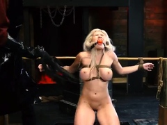 Slave auction Big-breasted blondie beauty Cristi Ann is