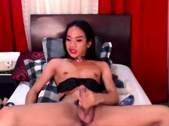 Trans Alexis Carington Wanking With An Anal Toy