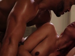 redhead-shemale-gets-throat-and-analed-by-big-black-cock