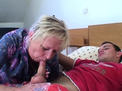 Old woman seduced young guy