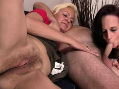 young gal enjoys family threesome with old couple