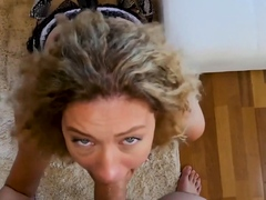 Just Anal presents - Curly haired Stasy Riviera cumming