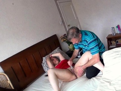 spy view as old man plays with and nails curvy bitch   xnpornx