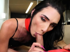 Young sexy tranny spanked and anal fuck