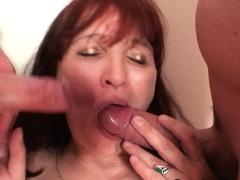 redhead-granma-gets-involved-into-threesome-sex
