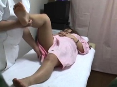 Japanese Asian mama being fingered by her husband