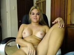 Kinky Blonde TBabe Jerking Off on Webcam 5