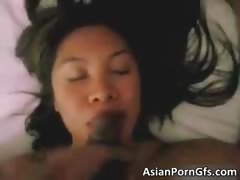 sweet cute hot asian babe sucking part4