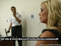 Superb Blonde Girl Arrive At Airport Customs