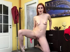 Desperate To Pee Redhead Wets Her Pants