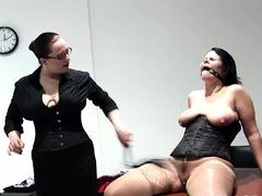 Trashy slave gets big jugs punished and slit fisted