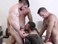 Masqulin Jeremy London Barebacked And Cum Sprayed In 4some