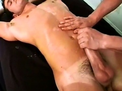 two guys self suck and two guys get helping hands