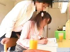 girl captured by hidden cam in student room