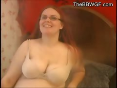 Fat Chubby Redhead Ex Gf Showing Her Tits And Belly